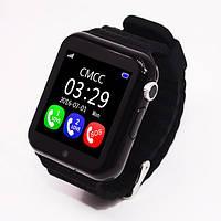 Детские умные часы+Smart watch влагозащита V7K Black, Bluetooth, камера, музыка, карта памяти! .