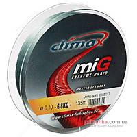Climax Шнур Climax Mig Braid Green 100 м, 0,14 мм, 11,2 кг, зеленый 9061-00100-014