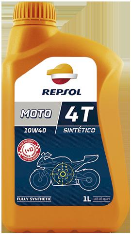 Моторное масло для мотоцикла REPSOL MOTO SINTETICO 4T 10W40 (1L) синтетика