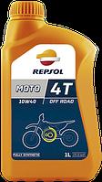 Моторное масло для мотоцикла REPSOL MOTO OFF ROAD 4T 10W40 (1L) синтетика ( для внедорожных кроссовых мото )