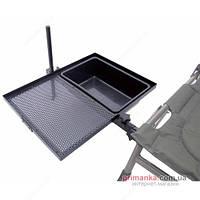 Carp Zoom Прикрепляющийся к креслу поднос (лоток) и емкость для приманки Carp Zoom Side Tray With Bowl CZ2029