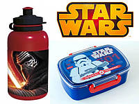 """Набор """"STAR WARS - Звездные войны"""".  Контейнер для завтрака (ланч бокс) + бутылка"""