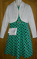 Платье  горох с сумочкой р.134-152