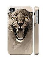 """Пластиковый чехол """"iDAY"""" Дикая кошка для iPhone 4/4S"""