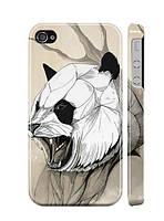 """Пластиковый чехол """"iDAY"""" Панда для iPhone 4/4S"""