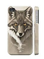 """Пластиковый чехол """"iDAY"""" Волчица для iPhone 4/4S"""