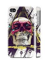 """Пластиковый чехол """"iDAY"""" Разноцветный череп для iPhone 4/4S"""