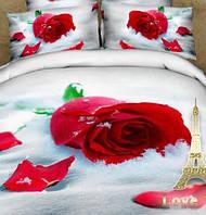 """Комплект постельного белья Love You Сатин 3D """"Верность"""" Полуторный"""