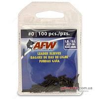 AFW Обжимные трубки AFW Single Barrel Sleeves 0 BLACK, J00B