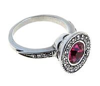 """Кольцо """"Лоо"""" с кристаллами Swarovski, покрытое серебром (d4763050)"""