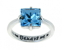 "Кольцо ""SW Ларен"" с кристаллами Swarovski, покрытое серебром (r6643040)"