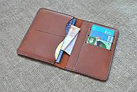 Универсальный чехол для документов, денег и банковских карт из натуральной кожи ручной работы, фото 1