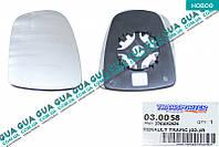 Вкладыш зеркала заднего вида правый без подогрева 030058 Nissan PRIMASTAR 2000-, Opel VIVARO 2000-