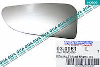 Вкладыш зеркала заднего вида нижний левый без подогрева ( выпуклой ) 03.0061 Nissan INTERSTAR 1998-2010, Opel MOVANO 2003-2010, Renault MASTER III