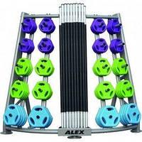 Стойка для грифов и дисков вертикальная Alex RK-BPS-20B