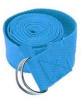 Ремень для йоги Pro Supra (183 см x 3,8 см) голубой