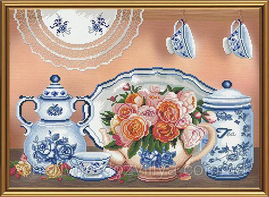"""Набор для вышивания бисером и нитками """"Летний чай"""""""