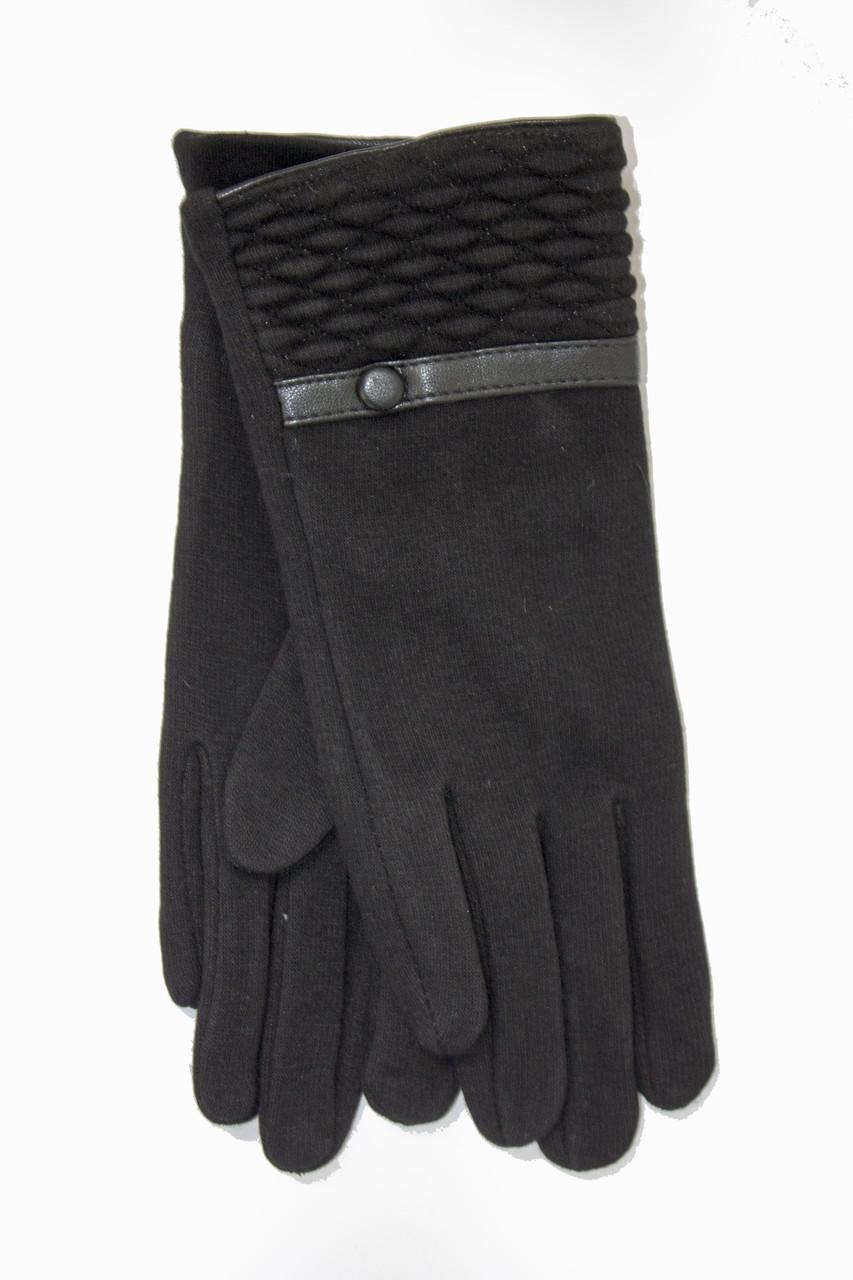 Женские стрейчевые перчатки Черные