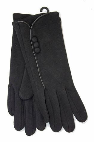 Женские стрейчевые перчатки Черные, фото 2