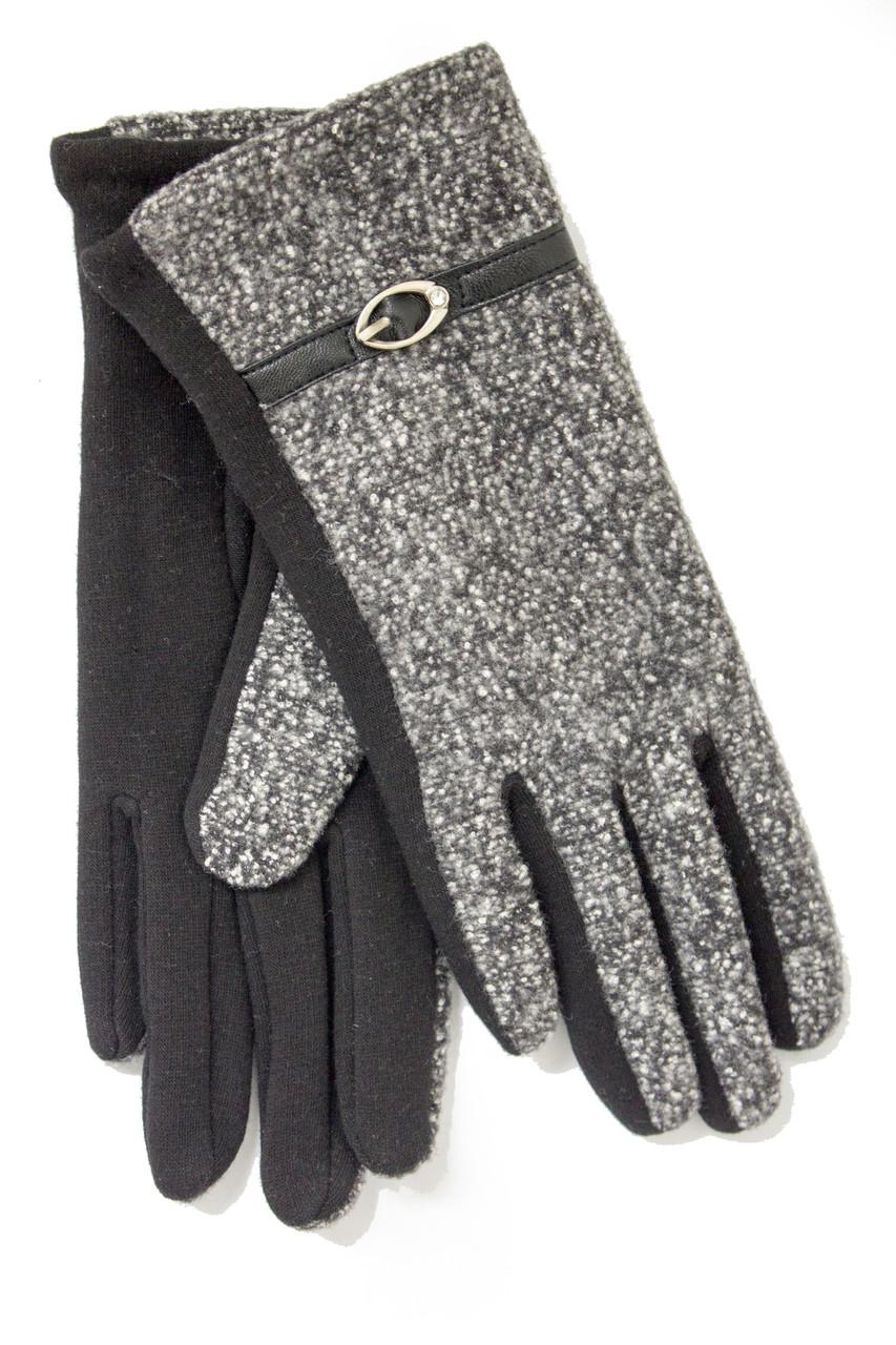 Женские стрейчевые перчатки Комбинированые Средние