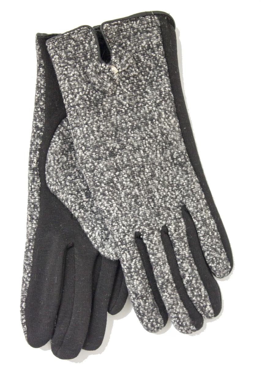 Женские стрейчевые перчатки Комбинированые Большие