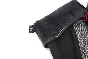 Женские стрейчевые перчатки Комбинированые Большие, фото 3