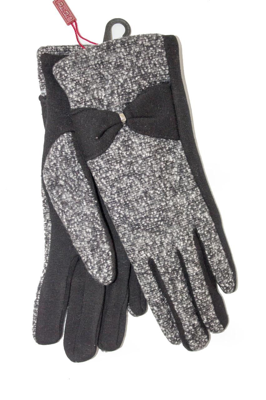 Женские стрейчевые перчатки Комбинированые Маленькие