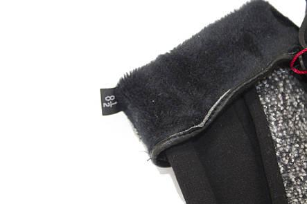 Женские стрейчевые перчатки Комбинированые Маленькие, фото 2