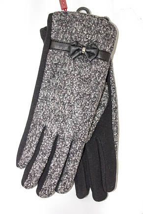 Женские стрейчевые перчатки Комбинированые Средние, фото 2