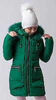 Зимнее пальто  для девочки Ника (116-146р).