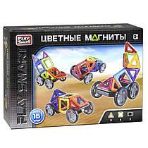 Магнитный конструктор 16 деталей (машины), Цветные магниты, 2426
