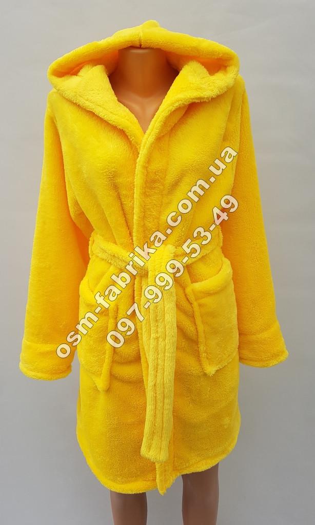 Стильный женский халат с капюшоном на запах, хит сезона