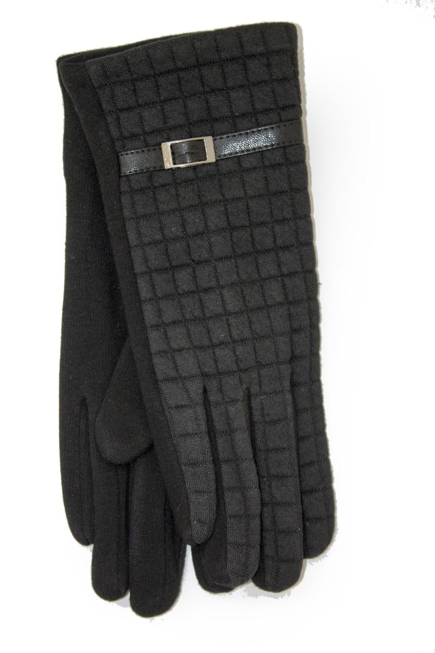 Женские стрейчевые перчатки Универсальные Черные