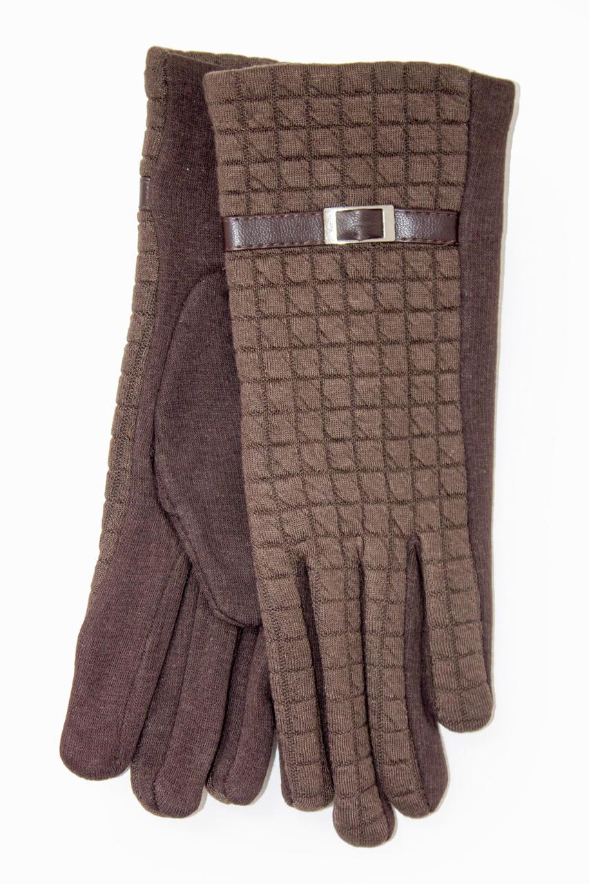 Женские стрейчевые перчатки Универсальные Коричневые