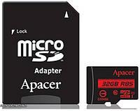 Apacer Карта памяти microSDHC UHS-I 85R 32GB сlass10 + SD adapter (AP32GMCSH10U5-R)