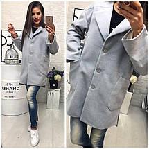 Короткое пальто с отложным воротником, фото 3