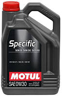 Моторное масло 0W-30 (5л.)MOTUL  SPECIFIC VW 506 01 506 00 503 00