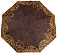 Шикарный, компактный женский зонт, автомат ZEST (ЗЕСТ) Z24755-4105, коричневый