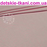 Бязь в мелкую клеточку розового цвета (№61а).