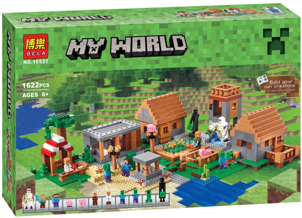 Конструктор Bela 10531 Деревня The Village. Майнкрафт (аналог Lego Minecraft 21128)