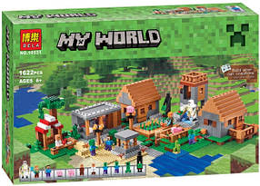 Конструктор Bela 10531 Деревня The Village. Майнкрафт 1622 детали (аналог Lego Minecraft 21128)