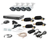 Комплект проводной системы видеонаблюдения Tecsar AHD 4OUT LIGHT LUX, фото 1