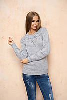 Вязаный женский серый свитер Лада ТМ Arizzo 46-48 размеры