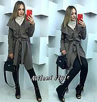 Пальто женское с асимметричным низом кашемир 6 цветов 1Gmil31