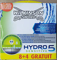 Schick (Wilkinson) HYDRO 5 Sensitive (Шик, Вилкинсон Гидро5) 12 штук в упаковке оригинал