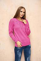 Вязаный женский малиновый свитер Лада ТМ Arizzo 46-48 размеры