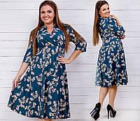 Платье (50-52,54-56,58-60,62-64,66-68) —  трикотаж креп-дайвинг  купить оптом и в розницу в одессе  7км