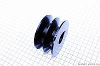 Ведучий шків D=80мм під колінвал 25мм, фото 1