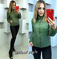 1f134b871b9 Куртка женская модная короткая на синтепоне плащевка лаке разные цвета  1Gmil152