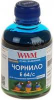 Чернила WWM EPSON L110/210/355 (Cyan) (E64/C) 200 г